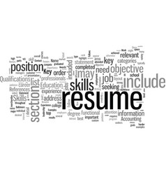 How to write a resume for your first job vector