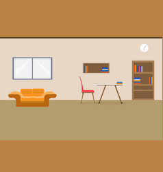 interior office design relax with sofa table vector image
