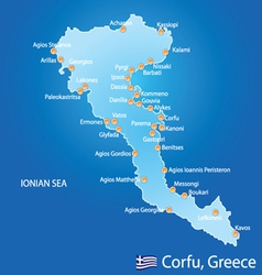 Island of Corfu in Greece vector image