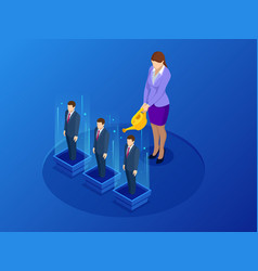 isometric professional growth human resources vector image