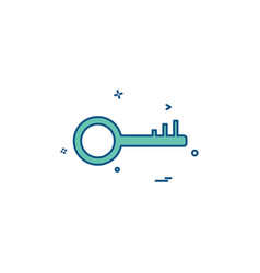 key lock icon design vector image