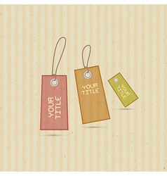 Labels Tags on Recycled Paper Background vector image