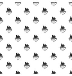 laundry room pattern seamless vector image