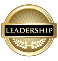 Leadership Gold Label vector image