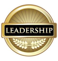 Leadership gold label vector