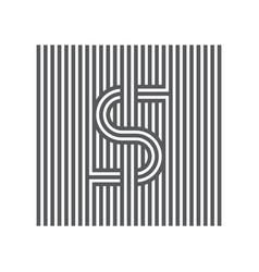 letter s logotype lineart design element logo vector image