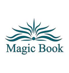 Logo magic book vector