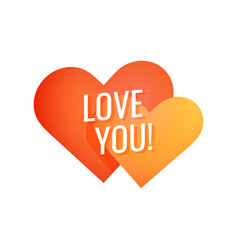 love you simple colorful emblem for decoration of vector image