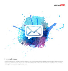 Message icon - watercolor background vector
