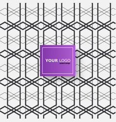 modern connect geometry pattern hexagon vector image