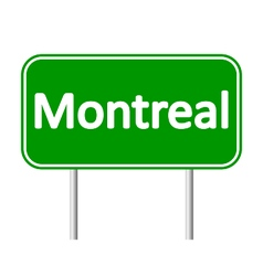 Montreal road sign vector