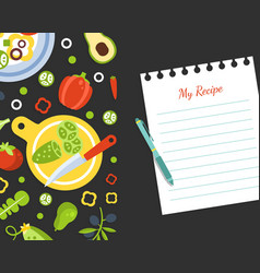 My recipe blank card template with fresh vector