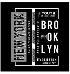 new york city typography graphic t shirt vector image