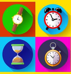 old vintage hourglass alarm clock stopwatch vector image