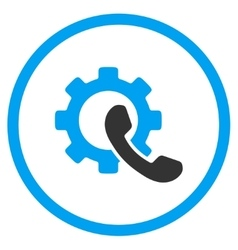 Phone configuration rounded icon vector