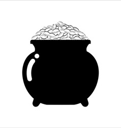 Pot of gold icon on white background Isolated vector image