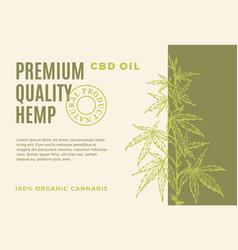 Premium quality cbd hemp oil abstract vector