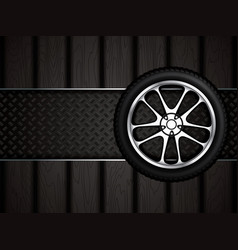realistic car wheel vector image