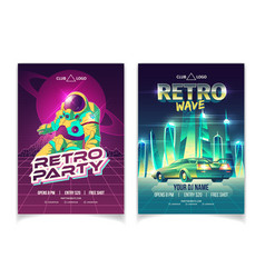 retro music club party cartoon leaflet vector image