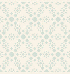 Retro vintage seamless pattern with simple flowers vector