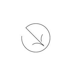 right down arrow icon vector image