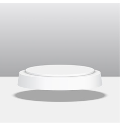 Round pedestal for display vector image vector image