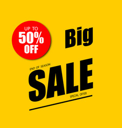 sale banner 50 off special offer vector image