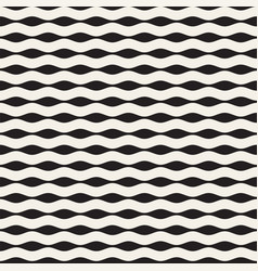 seamless black and white hand drawn wavy lines vector image