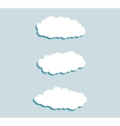 Set of blue sky clouds Cloud icon cloud shape vector image