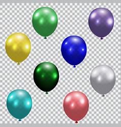 Set of celebratory balloons realistic semi vector