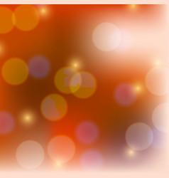 Shiny round shapes on orange background vector