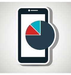 smartphone statistics icon vector image