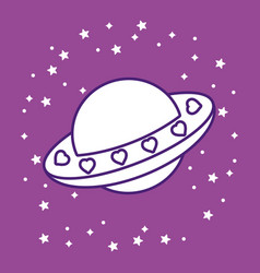 spaceship icon image vector image