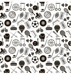 sport signs and symbols black background pattern vector image