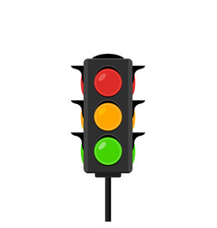 traffic light icon signal stoplight vector image