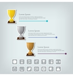 Trophy Cups and award concept Champions or vector
