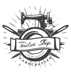 Vintage black tailor label template vector