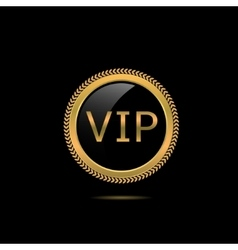 VIP golden badge vector