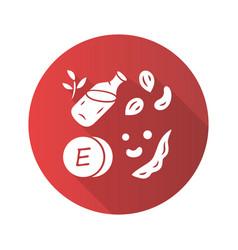 vitamin e red flat design long shadow glyph icon vector image
