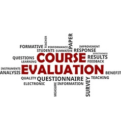 Word cloud course evaluation vector