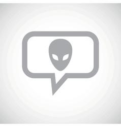 Alien grey message icon vector image