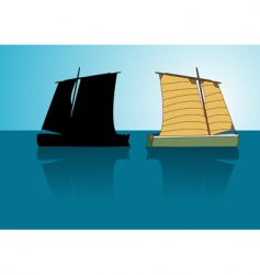 Asian boat vector image