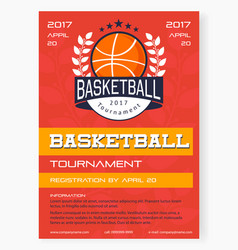 basketball tournament poster vector image