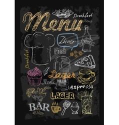 chalk menu vector image