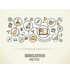 Education hand draw integrated icons set on paper vector image vector image