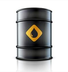 metal oil barrel vector image vector image