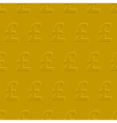 Pound sterling pattern vector image vector image