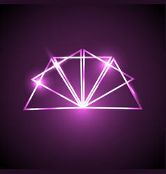 abstract background with pink neon triangles vector image vector image