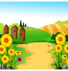 beauty landscape for you design vector image vector image
