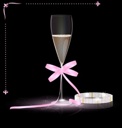 glamour champagne vector image